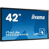 "42"" (106,68cm) iiyama ProLite TH4264MIS Touch schwarz 1920x1920 1xDP/1xDVI/1xHDMI 1.3/1xVGA/S-Video"