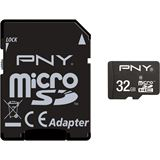 32 GB PNY Standard microSDHC Class 10 Retail inkl. Adapter auf SD
