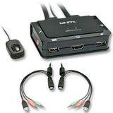 Lindy HDMI KVM Switch Compact USB 2.0 Audio 2 Port