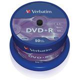 Verbatim DVD+R 4.7 GB 50er Spindel (43550)
