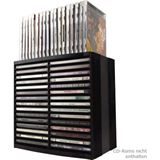 Fellowes CD-/DVD-Ablagebox Spring, schwarz, für 30 CDs