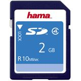 2 GB Hama High Speed SD Class 4 Bulk