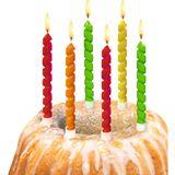 """SUSY CARD Geburtstagskerzen """"Twister"""", aus Wachs"""