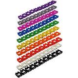 Good Connections Kabelmarkierer farbig, Markierung 0 bis 9 10er Set
