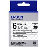 Epson TAPE - LK2TBN CLEAR BLK/