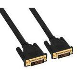 (€4,48*/1m) 2.00m InLine DVI-D Anschlusskabel Premium-Line DVI 24+1 Stecker auf DVI 24+1 Stecker Schwarz vergoldet