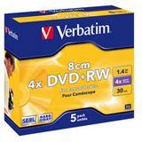 Verbatim DVD+RW 1.4 GB 8cm 5er Jewelcase (43565)