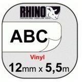Dymo RhinoPRO VINYL Labels schwarz/weiß