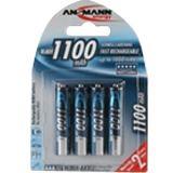 ANSMANN HR03 Nickel-Metall-Hydrid AAA Micro Akku 1050 mAh 4er Pack
