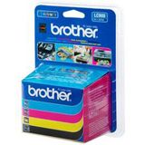 Brother Tinte LC900VALBPDR schwarz/cyan/magenta/gelb