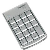 KeySonic Nummernblock ACK-152WK Alu Silber USB