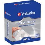 Verbatim 100er Pack CD- Papierhüllen für Aufbewahrung (49976)