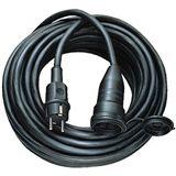 (€2,19*/1m) 5.00m Brennenstuhl Stromkabel Verlängerungskabel Schutzkontakt Stecker auf Schutzkontakt Buchse Schwarz Gumm