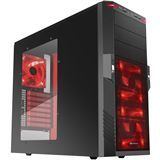 Sharkoon T9 Value Red Edition Midi Tower ohne Netzteil schwarz/rot