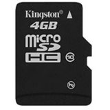 4 GB Kingston Standard microSDHC Class 10 Retail