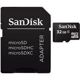 32 GB SanDisk Standard microSDHC Class 4 Bulk inkl. Adapter auf SD