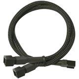 Nanoxia 60 cm schwarzes Y-Kabel für 3-Pin Molex (NX3PY60)