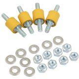 Aqua Computer Pumpen-Entkopplungsset für Pumpen mit Montagelöchern für M4-Schrauben (41092)