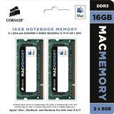 16GB Corsair Mac Memory DDR3-1600 SO-DIMM CL11 Dual Kit