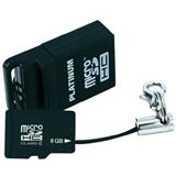 8 GB Platinum BestMedia microSDHC Class 6 Retail inkl. USB-Adapter