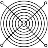 Cooltek Lüftergitter für 140mm Lüfter schwarz (Gitter 140 - schwarz)