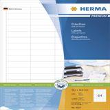 Herma 4607 Premium Universal-Etiketten 4.83x1.69 cm (200 Blatt (12800 Etiketten))