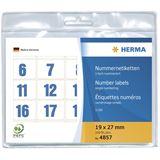 Herma 4857 blau selbstklebend Nummernetiketten 1.9x2.7 cm (100 Stück (1-100))