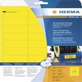 Herma 8031 strapazierfähig gelb Signal-Schilder 6.35x2.96 cm (25 Blatt (675 Etiketten))