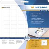 Herma 10107 quadratisch ablösbar Universal-Etiketten 2.54x2.54 cm (25 Blatt (1650 Etiketten))