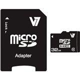 32 GB V7 microSDHC Class 10 Retail inkl. Adapter