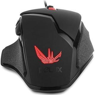 Delux M612 Gaming Mouse USB schwarz (kabelgebunden)