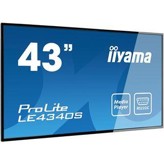 "43"" (109,22cm) iiyama ProLite LE4340S-B1 schwarz 1920x1080 1xDVI / 1xHDMI / 1xVGA"