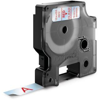 Dymo D1 12mm x 7m rot auf transparent
