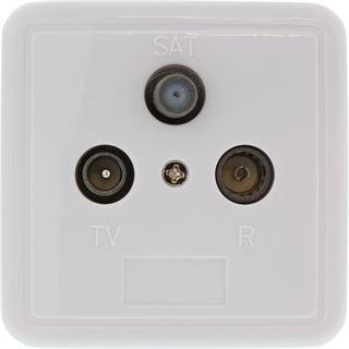 InLine Antennensteckdose, geschirmt UP Stich-oder Enddose