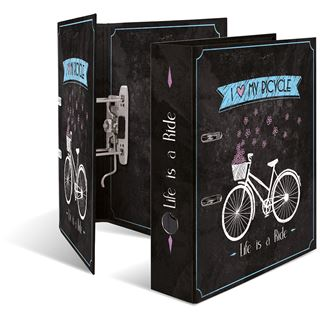 "HERMA Motivordner ""Shabby Chic Bicycle"", DIN A4"