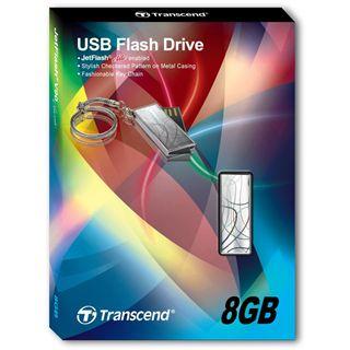 8 GB Transcend JetFlash V90C silber USB 2.0