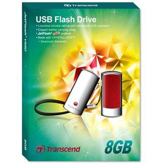 8 GB Transcend JetFlash V95 Deluxe rot USB 2.0