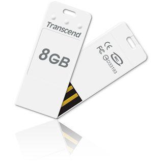 8GB Transcend JetFlash T3 Weiß USB 2.0 Stick