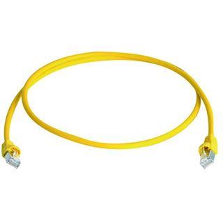 (€6,90*/1m) 1.00m Telegärtner Cat. 7 Rohkabel Patchkabel S/FTP RJ45 Stecker auf RJ45 Stecker Gelb