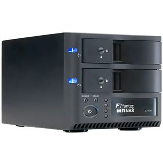 "3.5"" (8,89cm) Fantec MR-35DRN Wlan 2xEinbau SATA USB 2.0 Schwarz"