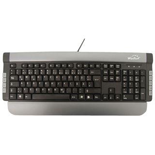 Wintech KB-60 Multimedia Tastatur Schwarz Deutsch USB