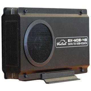 "3.5""(8,89cm) Wintech EX-MOB-49 eSATA USB 2.0 Schwarz"