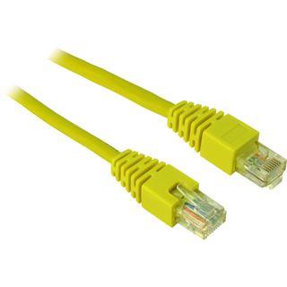 (€2,60*/1m) 1.50m Inter-Tech Cat. 5 Patchkabel U/UTP RJ45 Stecker auf RJ45 Stecker Gelb