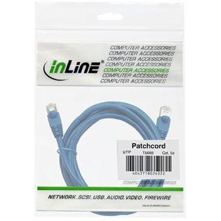 InLine Patchkabel, UTP, Cat.5e, 5m blau