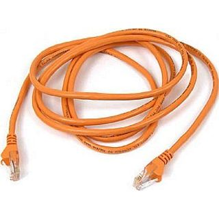 (€0,56*/1m) 25.00m InLine Cat. 6 Patchkabel S/STP PiMF RJ45 Stecker auf RJ45 Stecker Orange