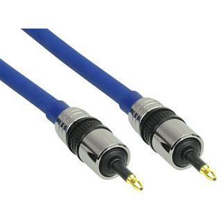 7.00m InLine Audio/Video Anschlusskabel Premium-Line Cinch Stecker auf Cinch Stecker Blau vergoldet