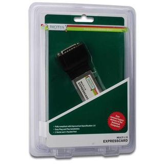 Digitus Serial/Parallel I/O, 2/1-Port, ExpressCard, Add-On