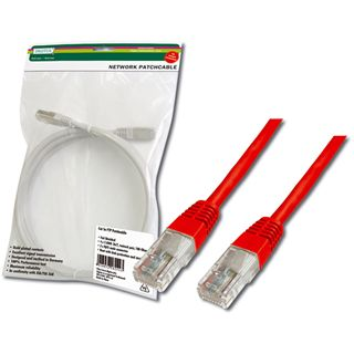 (€3,90*/1m) 1.00m Digitus Cat. 5e Patchkabel UTP RJ45 Stecker auf RJ45 Stecker Rot Twisted Pair