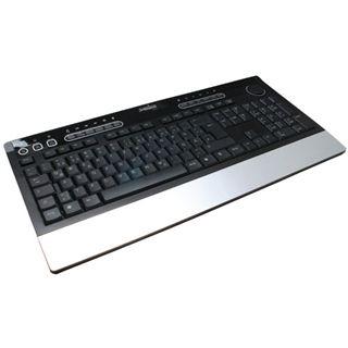 Perixx Periboard 601 Wireless Tastatur Schwarz/Silber Deutsch USB