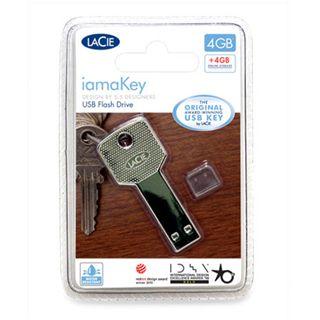 4 GB LaCie iamaKey silber USB 2.0